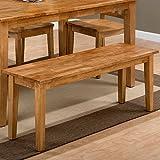 Cheap Jofran Simplicity Wood Kitchen Bench in Honey