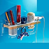 Hair Blower Shelf Bathroom Dryer Holder Bathroom Dryer Rack Shelf Storage Rack-B