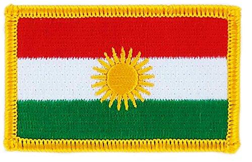 Patch Aufnäher, bestickt, Flagge Kurdistan, kurdisch, aufbügelbar, für Rucksack