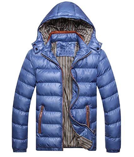 Anorak Howme Packable Jacket Chunky Chin with Men Blue Guard Oversized 77wIAgU