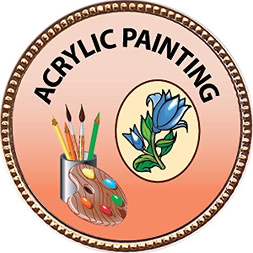 Acrylic Painting Award, 1 inch dia Gold Pin