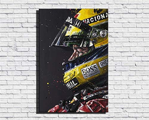 Ayrton Senna F1 Formula Grand,Oil Paintings Modern Canvas Prints Artwork Printed on Canvas Wall Art