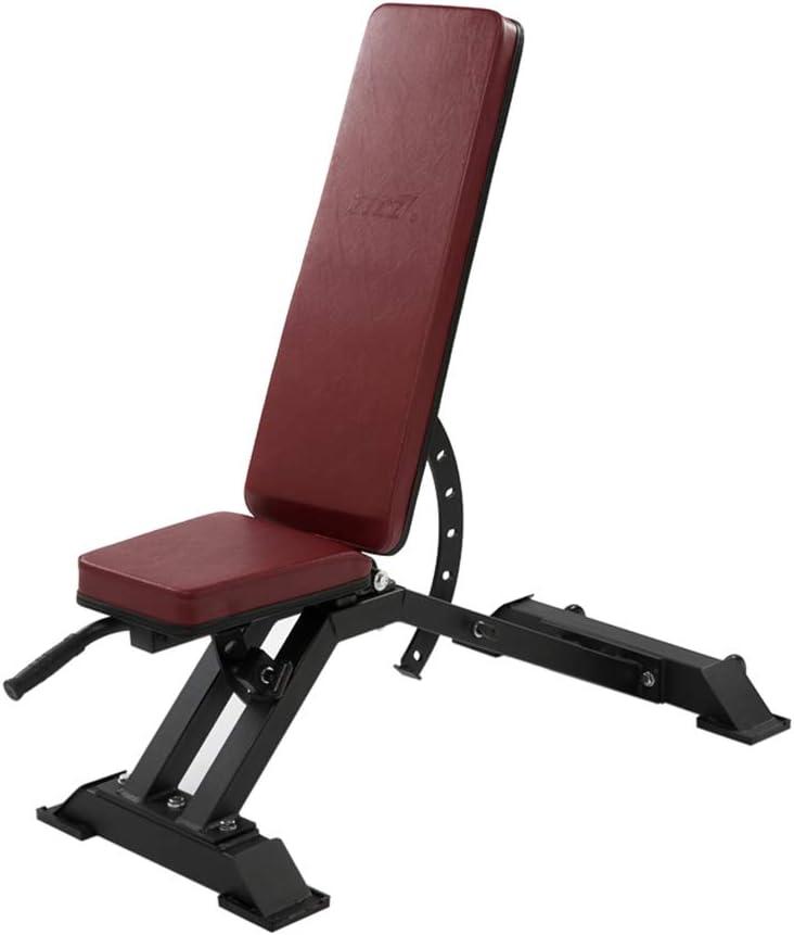 折りたたみウェイトベンチ多機能調節可能なダンベルベンチ腹部ボード鳥の椅子商業商業フィットネスチェア トレーニングベンチ (Color : 赤, Size : 136 * 45 * 65cm) 赤 136*45*65cm