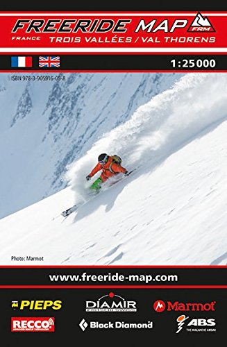 Freeride Map Les Trois Vallées / Val Thorens: Maßstab 1:25 000