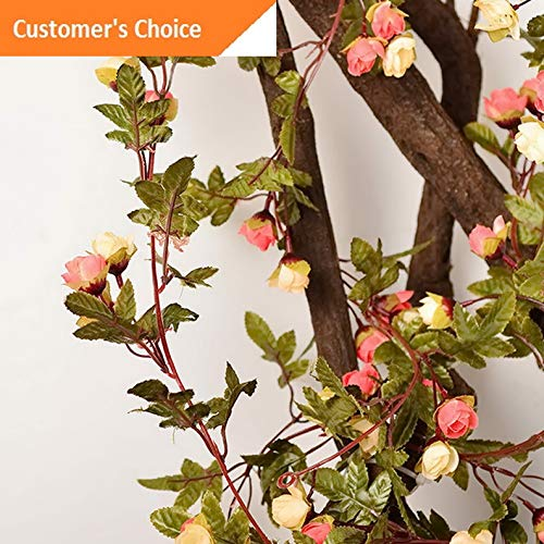 Hebel US 7ft Fake Silk Rose Flower Artificial Ivy Vines Garland Wall Home Floral Decor | Model ARTFCL - 1087 |