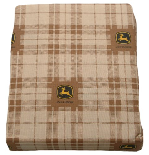 Deere Collection John (JOHN DEERE Bedding Traditional Tractor and Plaid Collection, 3-Piece Sheet Set, Twin Size)