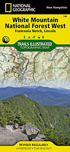 White Mountain National Forest West  Franconia Notch  Lincoln   National Geographic Trails Illustrated Map