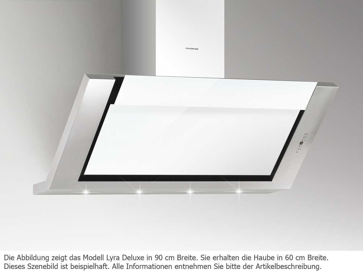 Silverline Lyra Deluxe lyw 685.1 W/pared Campana/acero inoxidable/cristal/ blanco/60 cm/cabeza libre/B: Amazon.es: Grandes electrodomésticos