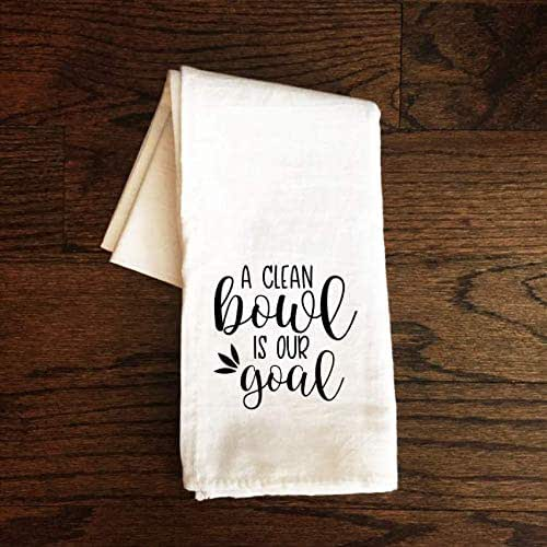 Amazon.com: Funny Bathroom Flour Sack Towel - A Clean Bowl