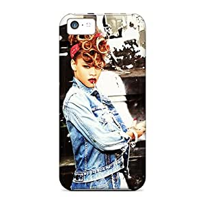 Protector Cell-phone Hard Covers For Apple Iphone 5c With Provide Private Custom HD Rihanna Skin WandaDicks