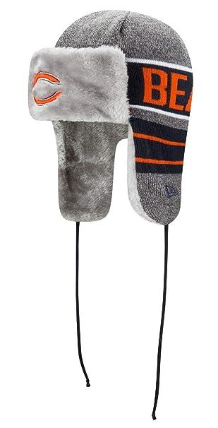 c501d5f60d4 Amazon.com   New Era Chicago Bears NFL Frosty Trapper Fur Lined Knit ...