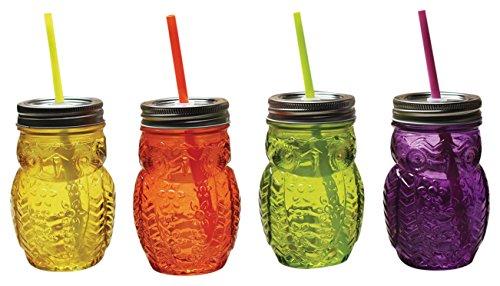 Circleware 69069 Hoot Owl Glass Mason Jars, - Owl With Glasses