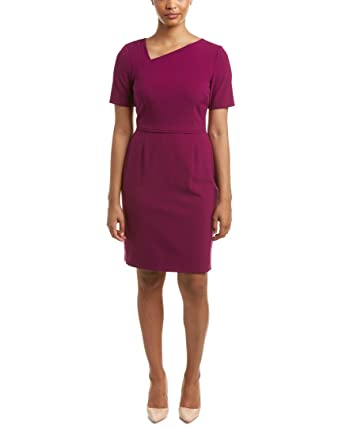 32b909d5 Tahari Women Clothing Asymmetrical Neckline Dress Size 14P at Amazon  Women's Clothing store: