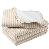 "Biubee Changing Pad Liners (4 Pack) - 27.5"" X 19.7"" - Organic Cotton Waterpro..."