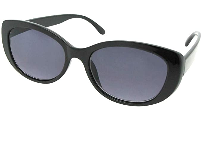 e250802f7079 Amazon.com  Womens Reading Sunglasses Style R90 (Black Frame Gray ...