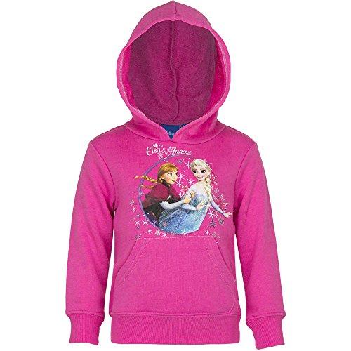Disney Frozen Die Eiskönigin Kapuzenpullover Pullover Mädchen Hoodie Farbe pink, Größe 104