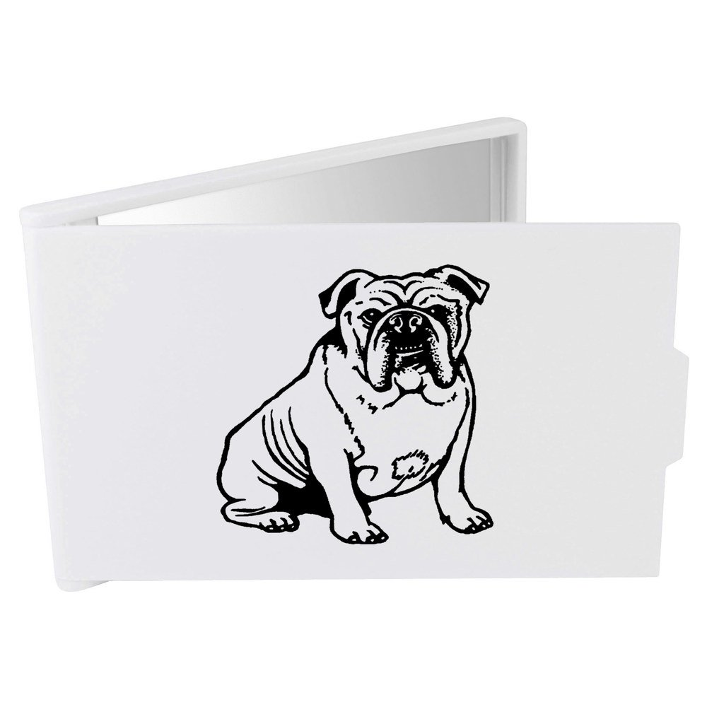 'English Bulldog' Compact / Travel / Pocket Makeup Mirror (CM00017079) Azeeda