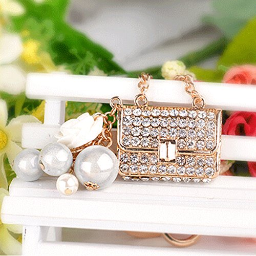 New Cute Rhinestone Purse handbag charm Key chains Ring Fashion Metal Keychain Keyring Women Jewelry gifts (York Bracelet New Brighton)