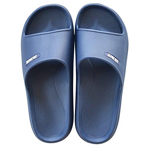 42 home 43 nbsp;Cool interni pantofole morbida coppie scuro home Fankou antiscivolo base e uomini estate plastica bagno femmina blu pantofole spessa doccia FUHpqFnYw