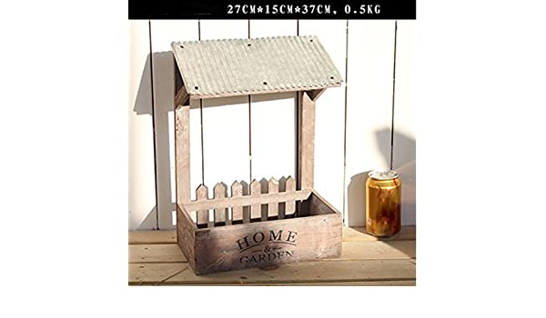 QSS/decorativos de American Village/madera/muro/pared/estantería estante/tienda/café-restaurant decorativo de casa/salón: Amazon.es: Hogar