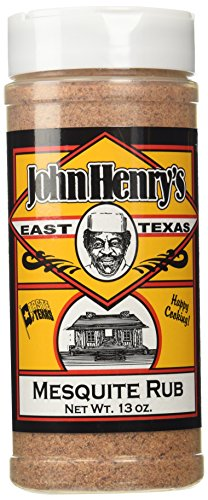 John Henry's East Texas Mesquite Rub BBQ Seasoning Spice - 13 OZ