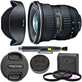 Tokina AT-X 11-20mm f/2.8 PRO DX Lens for Nikon F With Original Hood, Lens Brush, Ultraviolet Filter (UV) Polarizing Filter (CPL) Fluorescent Daylight Filter (FL-D) - International Version