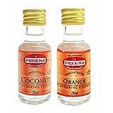Preema Combo Pack - Preema Coconut Essence 28ml - Preema Orange Essence 28ml (2 Pack)