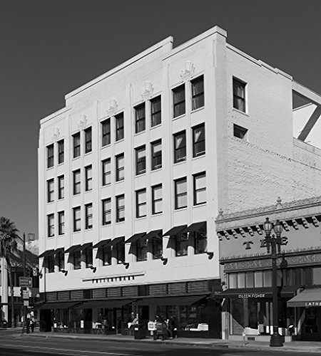 24 x 36 B&W Giclee Print of A commercial building on Colorado Boulevard in Pasadena, California 2013 Highsmith - Boulevard California Pasadena Colorado