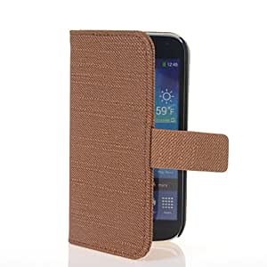 CASEPRADISE Flip Cover Leather Wallet Card Holder Shell Stand Case Cover For Samsung Galaxy S4 Mini I9190 Brown