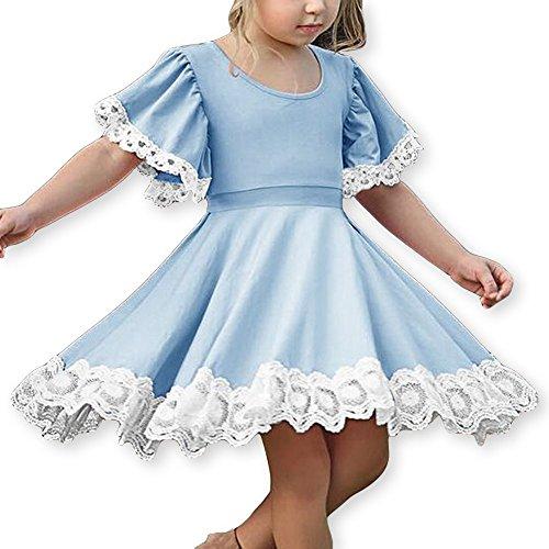 sandals Girls Dress Kids Trumpet Sleeve A Line Sundress Twirl Swing Hem Dress Christmas Toddles