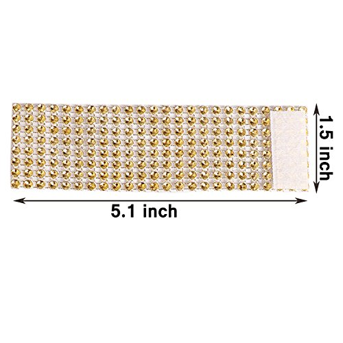 100PCS Rhinestone Napkin Rings Diamond Decoration for Wedding Party Banquet Reception Catering by CSPRING by CSPRING (Image #2)