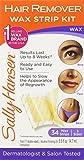 #10: Sally Hansen Hair Remover Wax Strip Kit for Face, Brows & Bikini, 34 Strips (17- Double Sided Strips)