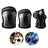 WINDWALKER Sports Protective Gear Skateboard Safety Pad Safeguard (Knee Elbow Wrist) for Adults/Children Roller Bicycle Size S