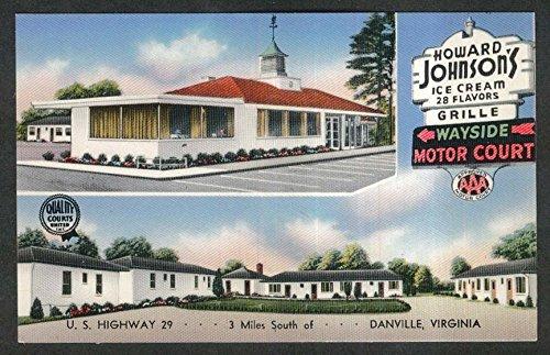 Johnsons Howard Cream Ice (Howard Johnson's Ice Cream Wayside Motor Court Danville VA postcard 1950s)