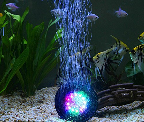 Spriak 12 colors changing fish tank aquarium decorations for Fish aquarium decorations
