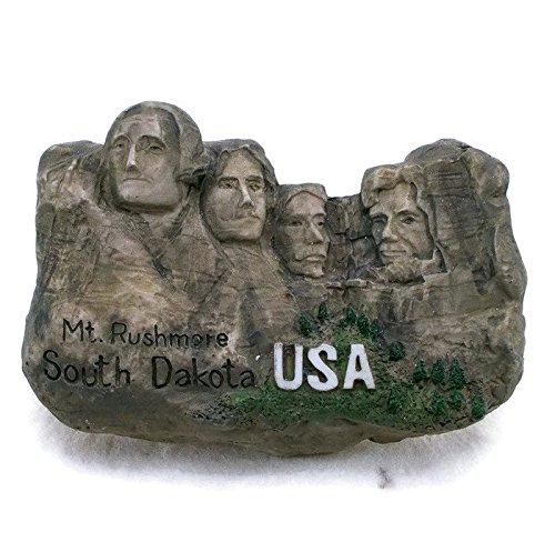 Mt. Rushmore South DAKOTA USA Souvenir Fridge Magnet Toy Set 3D Resin Collection ()
