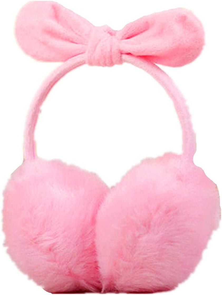 Women Rabbit Ear Faux Rabbit Fur Earmuffs Soft Winter Earwarmers