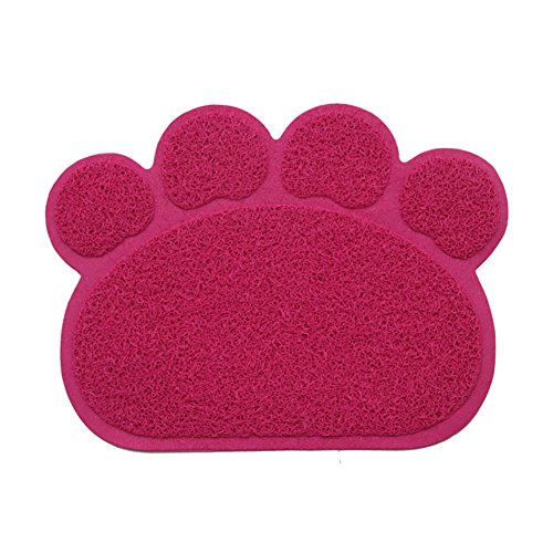 Cat Litter Mat, Non-Slip Pet Food Mat, Durable Pet Litter Trapping Rugs for Cats, Dogs and Rabbits by BERTERI