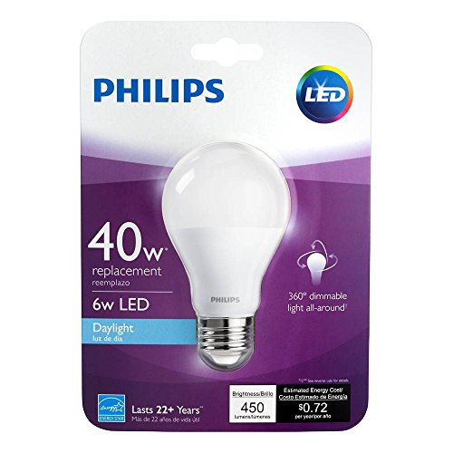 Philips-LED-Non-Dimmable-A19-Frosted-Light-Bulb-800-Lumen-5000-Kelvin-8-Watt-60-Watt-Equivalent-E26-Base-Daylight