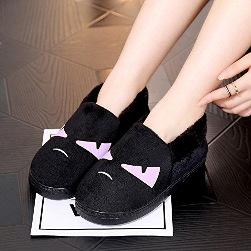 Y-Hui in autunno e in inverno e caldo cotone pantofole SCARPE Indoor In Casa Arredamento giovane ispessimento scarpe,290 (Fit per 43-44 piedi),Viola (Quan Bao)