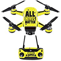 Skin for DJI Spark Mini Drone Combo - All Hives Matter| MightySkins Protective, Durable, and Unique Vinyl Decal wrap cover | Easy To Apply, Remove, and Change Styles | Made in the USA