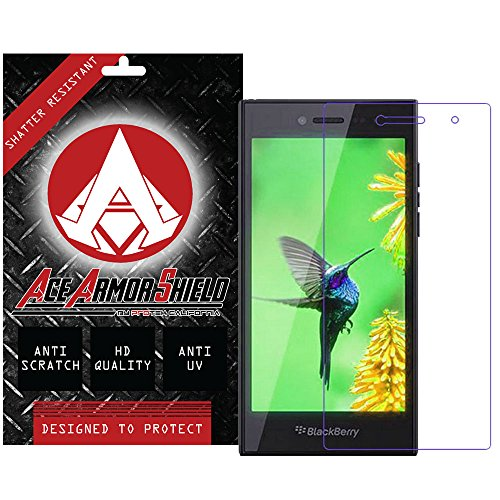 Ace Armor Shield Shatter Resistant Screen Protector for the blackberry leap / Military Grade / High Definition / Maximum Screen Coverage / Supreme Touch Sensitivity /Dry or Wet Easy Installation with free lifetime replacement warranty