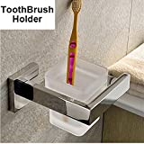 LOVELY 304 Stainless Steel Bathroom Accessories Chrome Toothbrush Paper Holder Towel Bar Shelf Rack Bath Hardware Set Toothbrush Holder
