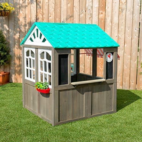 KidKraft- Casa de juguete de exteriores con un toldo a rayas como ...