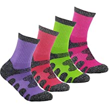 YUEDGE 4Pack Women's Antiskid Wicking Outdoor Multi Performance Hiking Cushion Socks