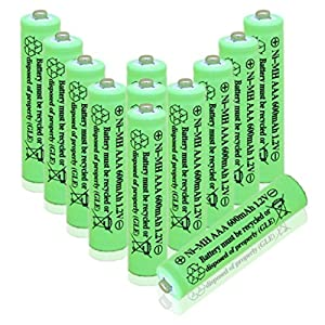 GEILIENERGY 1.2v AAA Triple A Nimh Low Self-Discharge (LSD) NiMH Rechargeable Battery for Solar light RC/AC Remote DECT Cordless Phones( Pack of 12)