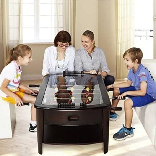 Foosball Coffee Game Wood 42 Table Tempered Glass Top Tabletop Furniture Family Dark Brown