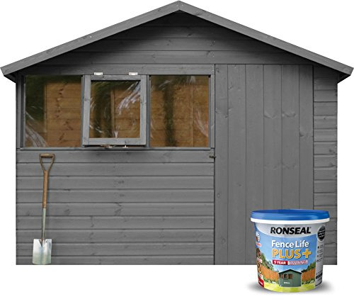 Ronseal 9L Fence Life Plus Garden Shed & Fence Paint UV Potection-All Colours 9L...