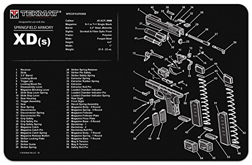 TekMat Cleaning Mat for use with Springfield XD-S ()