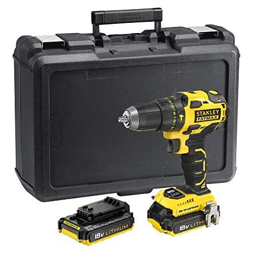 chollos oferta descuentos barato STANLEY FATMAX FMC627D2 QW Taladro percutor Brushless 18V 30 600 ipm con 2 baterías de litio 2Ah y maletín